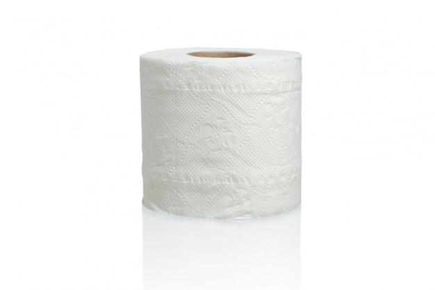 Sluit omhoog op geïsoleerd toiletpapier