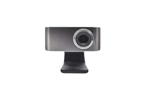 Sluit omhoog op geïsoleerde webcamera