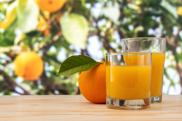 Sluit omhoog op glazen sinaasappelsap