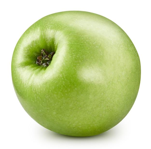 Sluit omhoog op sappige verse geïsoleerde appel