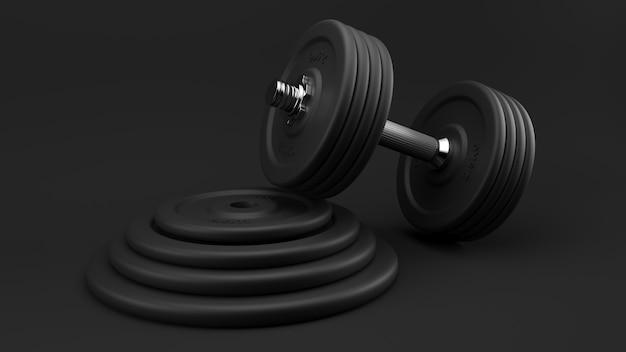 Sluit omhoog op zwarte geïsoleerde gymnastiekhalters