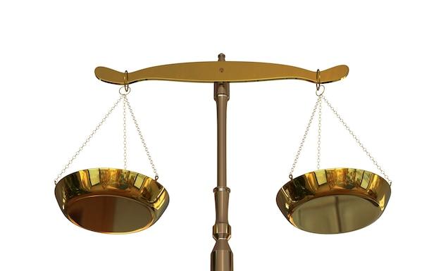 Sluit omhoog per saldo van geïsoleerde rechtvaardigheid