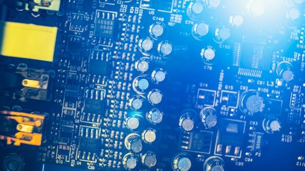 Sluit omhoog technologische stukkenachtergrond