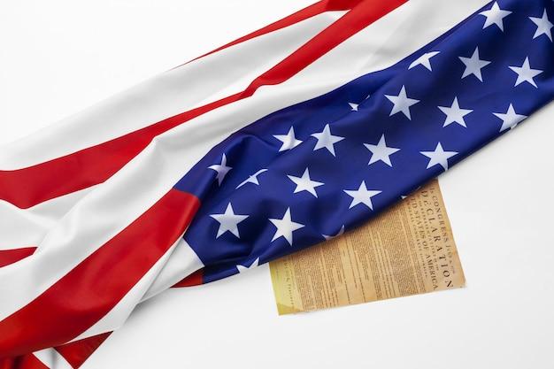 Sluit omhoog van amerikaanse vlag de vs