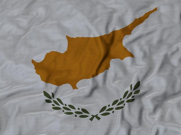Sluit omhoog van de vlag van ruffled cyprus