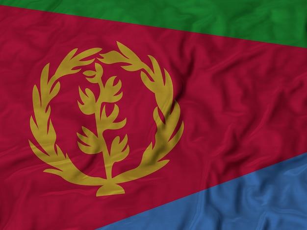 Sluit omhoog van de vlag van ruffled eritrea
