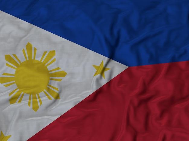 Sluit omhoog van de vlag van ruffled filippijnen