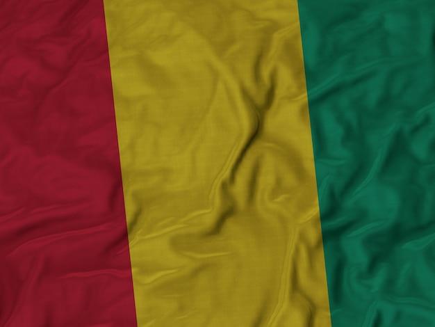 Sluit omhoog van de vlag van ruffled guinea