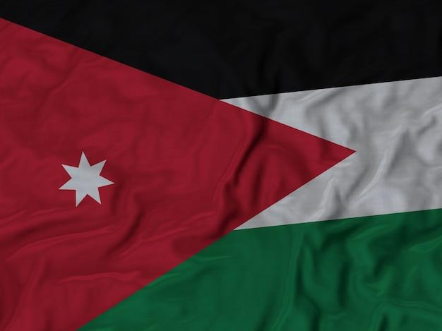 Sluit omhoog van de vlag van ruffled jordanië