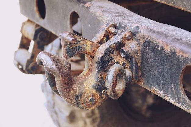 Sluit omhoog van detail rusty vintage old car
