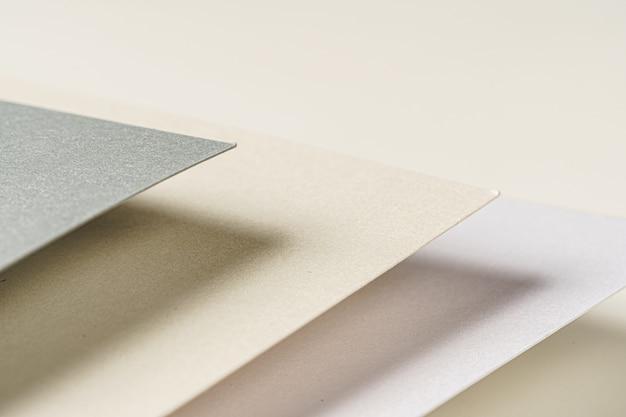 Sluit omhoog van document steekproeven voor ambachten en zaken, exemplaarruimte