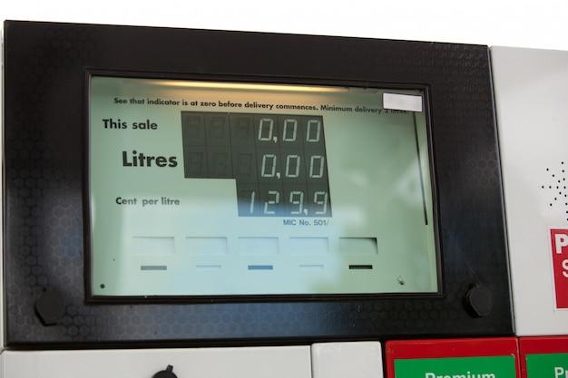 Sluit omhoog van een brandstofpomp