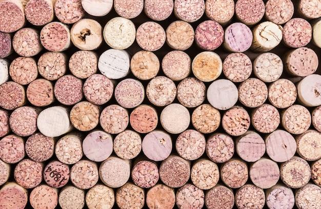 Sluit omhoog van een cork wijnachtergrond