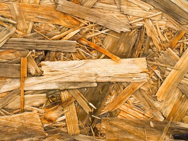 Sluit omhoog van een gerecycleerd samengeperst nat hout