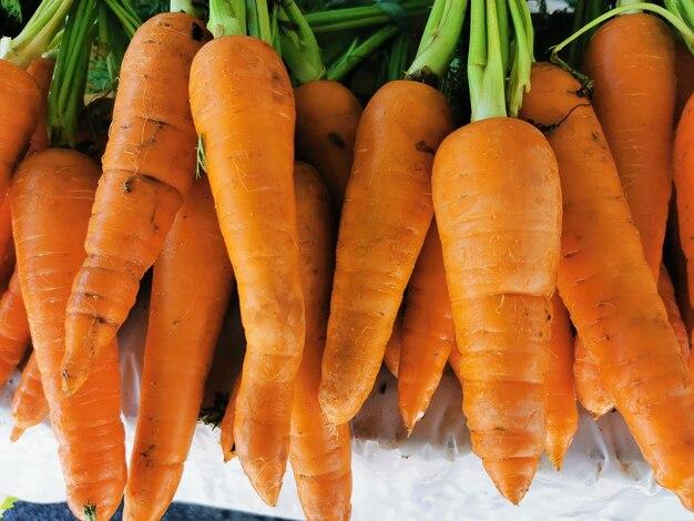 Sluit omhoog van een groep wortelen