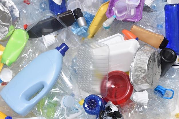 Sluit omhoog van een recyclingsplastiek