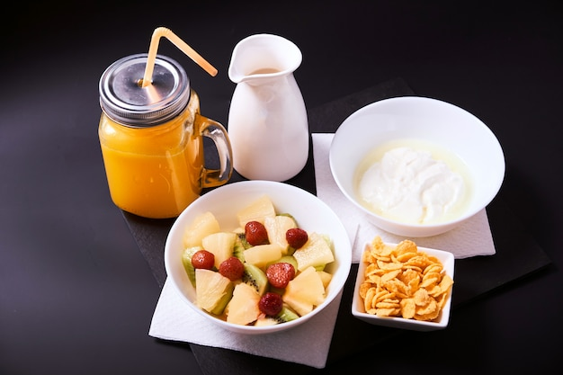 Sluit omhoog van gezond ontbijt