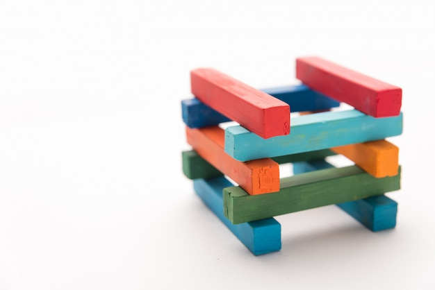 Sluit omhoog van kleurrijke krijttoren