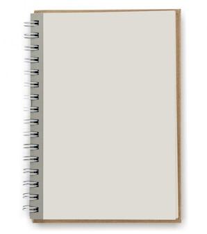 Sluit omhoog van open handboek met blanco pagina's