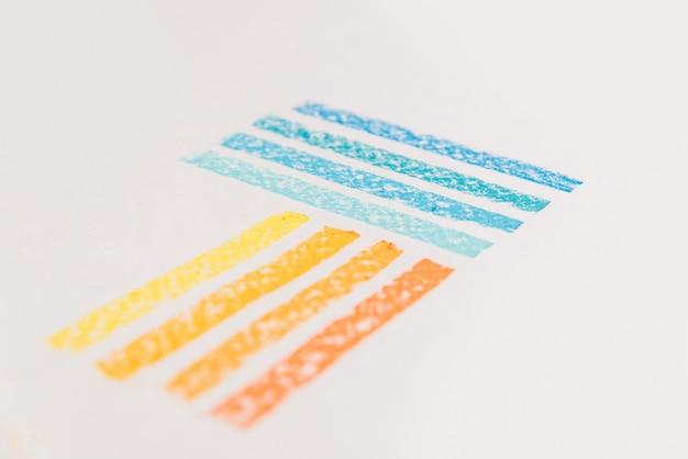 Sluit omhoog van pastelkrijt gepoederd pigment