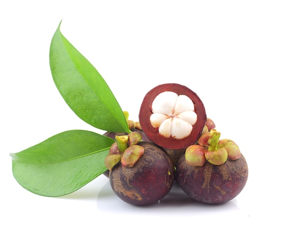 Sluit omhoog van thais mangostanvrucht