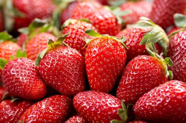 Sluit omhoog van verse aardbeien als achtergrond