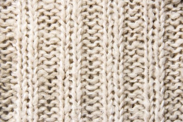 Sluit omhoog van wollen gebreide textuur