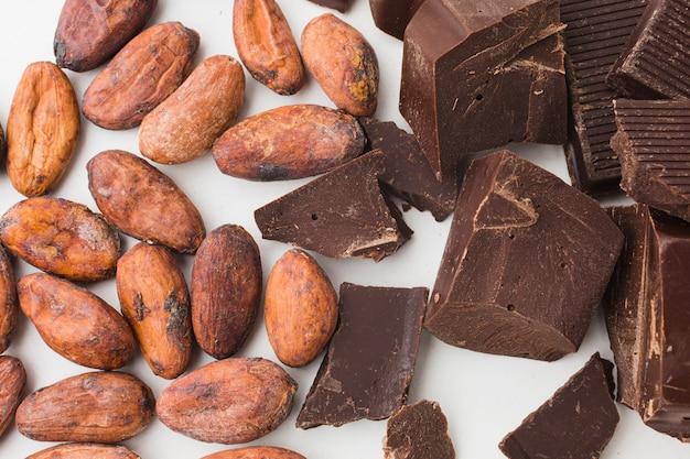 Sluit omhoog van zoete chocolade