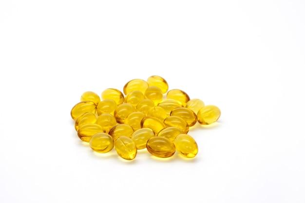 Sluit omhoog vitamine d3-gelcapsules