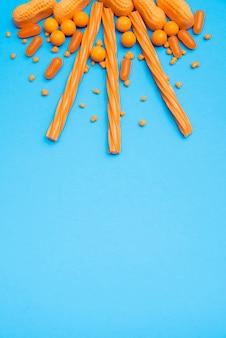 Sluit omhoog zonvorm door suikergoed wordt gemaakt dat