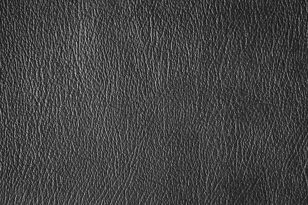 Sluit omhoog zwarte leer en textuurachtergrond