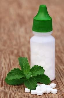 Sluit stevia af met zoetstoffen