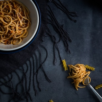 Smakelijk spaghettirecept op kom