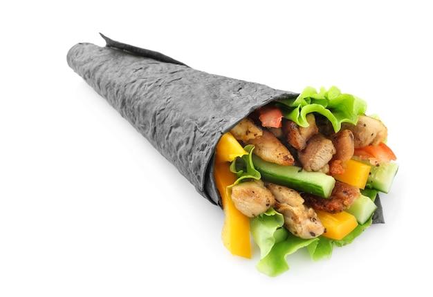 Smakelijke döner kebab geïsoleerd