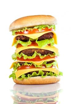 Smakelijke en smakelijke hamburger