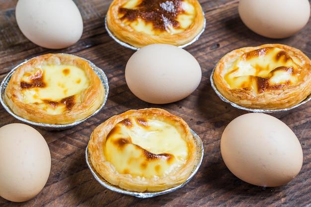 Smakelijke pastei met eieren