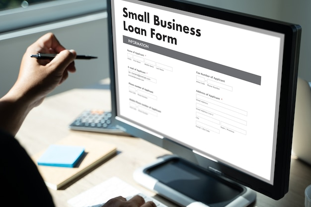 Small business loan form belasting man werk aanvraagformulier lening