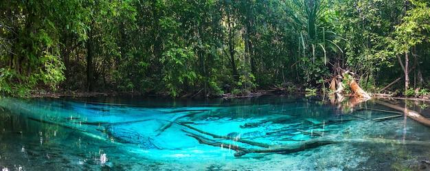 Smaragdblauw zwembad