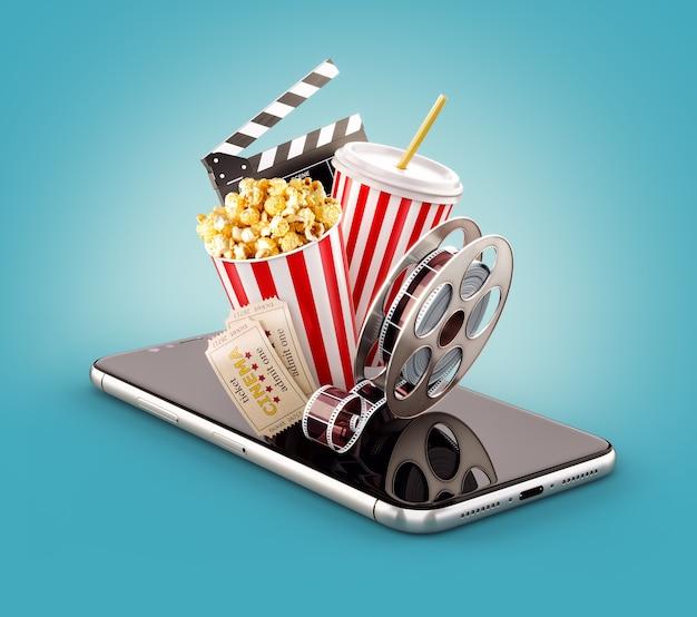 Smartphone-applicatie voor het online kopen en boeken van bioscoopkaartjes.