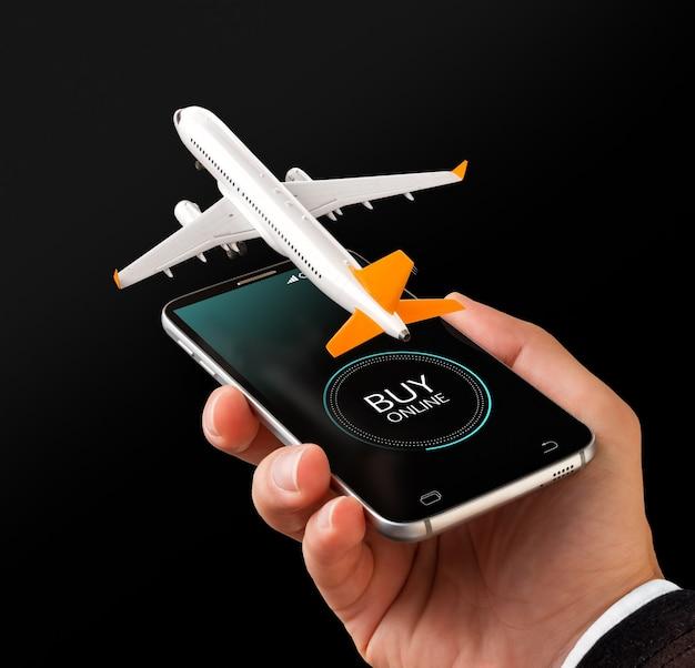 Smartphone-applicatie voor het online zoeken, kopen en boeken van vluchten op internet