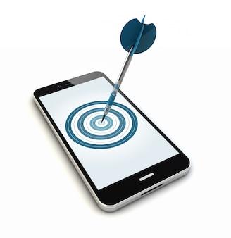 Smartphone-doel geïsoleerd