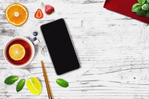 Smartphone in een sushibar