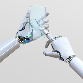 Smartphone kunstmatige intelligentie, futuristische communicatienetwerktechnologie