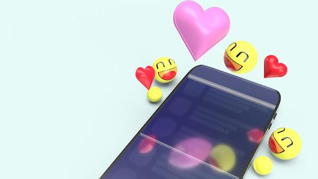 Smartphone met 3d-emoji's