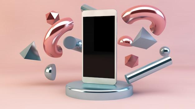 Smartphone met geometrische vormen