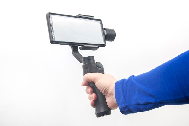 Smartphone met stabilisator