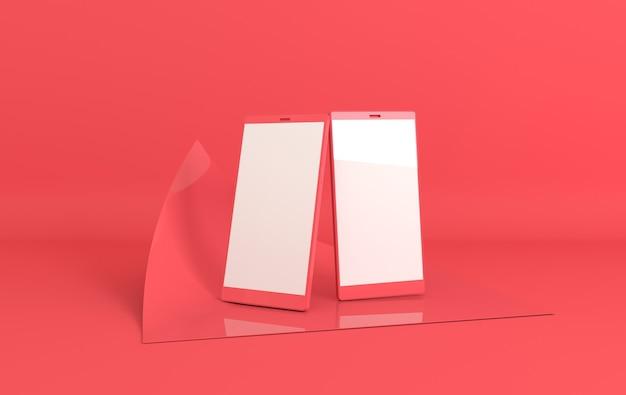 Smartphone-mockup in moderne minimale stijl.