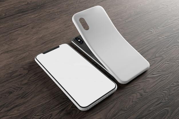 Smartphonescherm en hoesmodel