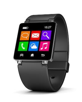 Smartwatch-apps op wit