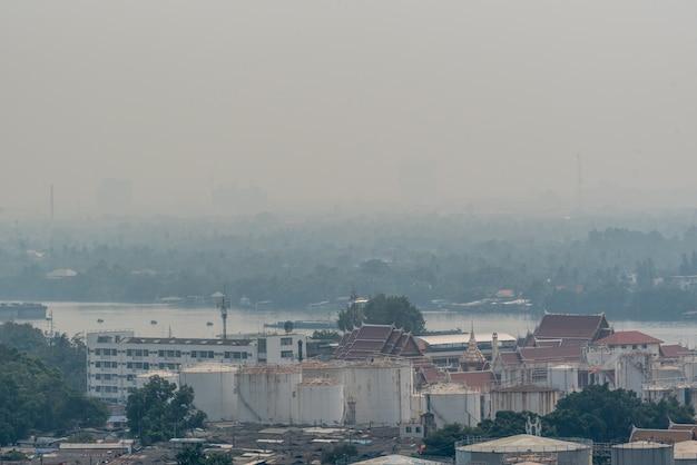 Smog pm2.5-stof overschrijdt de standaardwaarde van bangkok